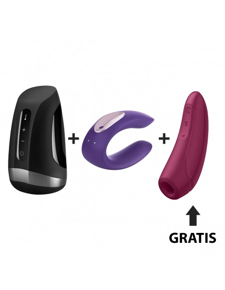 Kit Satisfyer Men Heat/ Partner Plus / Curvy 1+