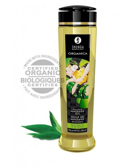 Shunga Massage Oil Green Tea