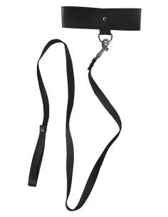 Collar negro bondage Sportsheets