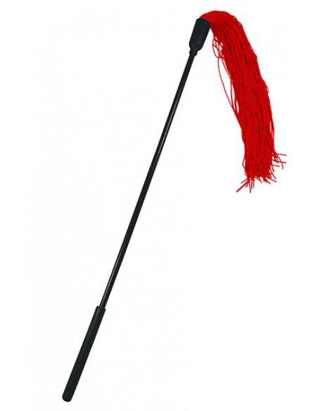 Fusta con tiras de goma roja Sportsheets