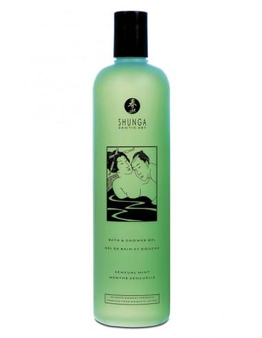 Gel sensual de baño sabor menta Shunga