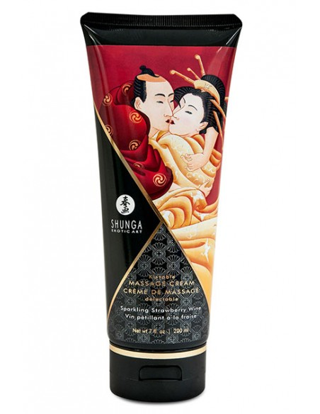 Crema de masaje Sparkling Strawberry Wine Shunga