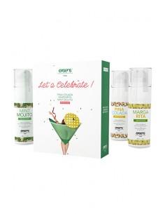 Warming Gourmet Massage Oils Let's Celebrate Kit del amor