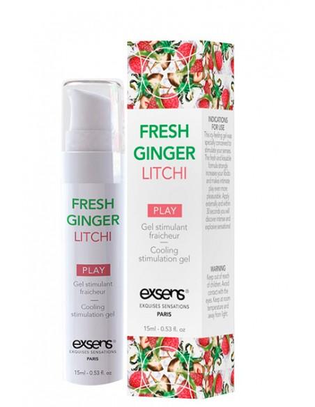 Cooling Stimulation Gel Fresh Ginger Litchi Gel estimulante