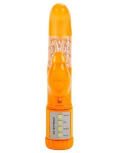Sophomore Bunny Orange vibrador con rotación