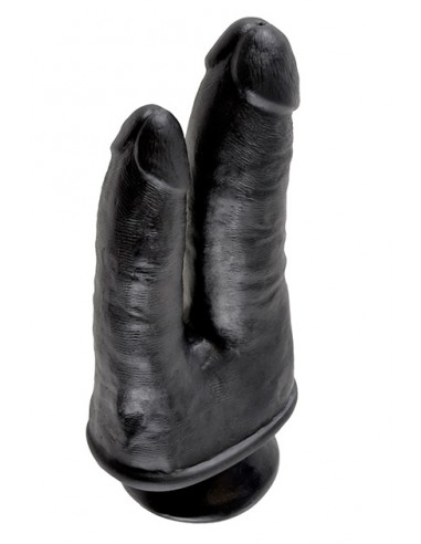 King Cock Double Penetrator Black dildo doble