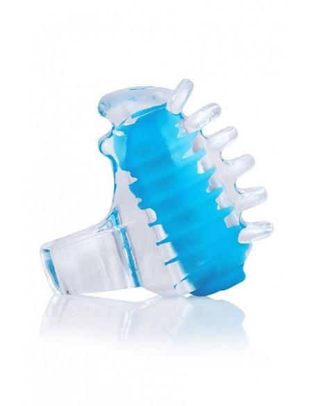 Vibrador mini para dedo FingO Tip Azul