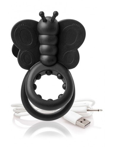 Charged Monarch Wearable Butterfly Vibe - Black