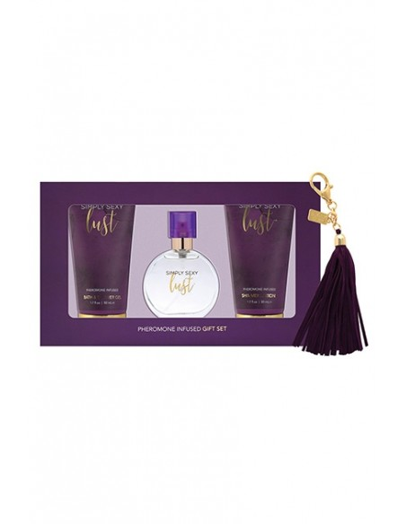 Set con feromonas Lust Perfume Gift Set 4 Piece