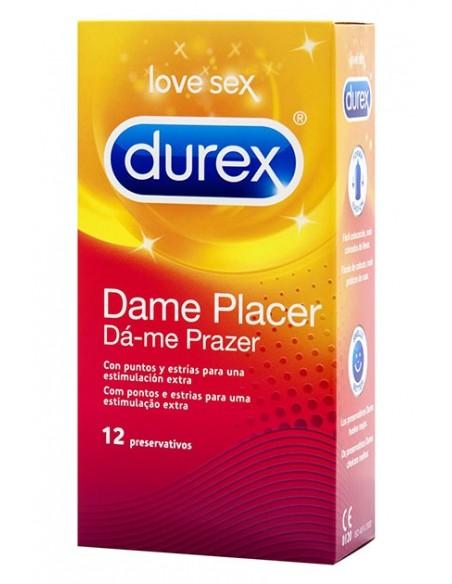 Preservativos con estimulación Durex Dame Placer 12 unidades